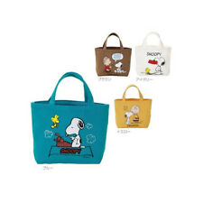 Peanuts SNOOPY Cotton Lunch Mini Tote Bag Select Color from Japan