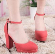 Womens Synthetic High Heels Stilettos Platforms Ankle Straps Solid Sandals Shoes