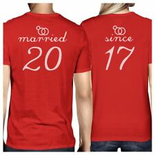 Married Since Custom Matching Couple Red Shirts