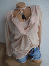Heine Knitted Jumper and Top Size 34 - 46 Nude Tone 2 Piece (916) NEW
