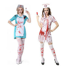Horror Zombie Bloody Doctor Nurse Costume Halloween Fancy Dress Woman Clothes