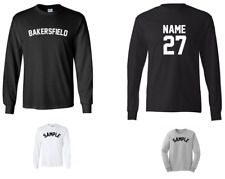 City of Bakersfield Custom Personalized Name & Number Long Sleeve Jersey T-shirt