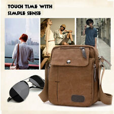 Men's Bag Military Canvas Leather Satchel Shoulder Messenger School Vintage