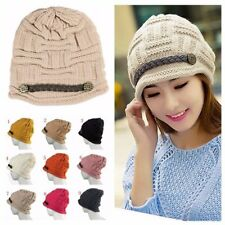 Women Winter Warm Knit Crochet Slouch Baggy Beanie Hat Crochet Ski Cap Beret Hot
