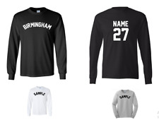 City of Birmingham Custom Personalized Name & Number Long Sleeve Jersey T-shirt