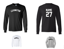 City of Lexington Custom Personalized Name & Number Long Sleeve Jersey T-shirt