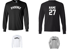 City of Phoenix Custom Personalized Name & Number Long Sleeve Jersey T-shirt