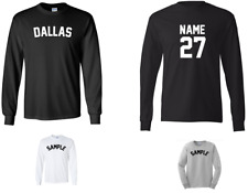 City of Dallas Custom Personalized Name & Number Long Sleeve Jersey T-shirt