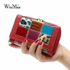 Women Luxury Brand Fashion Genuine Leather Patchwork Wallet Women Small Purse Fe
