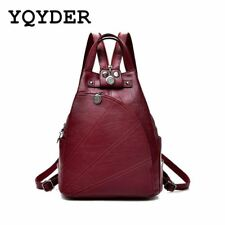 Fashion Leisure Women Backpacks Women's PU Leather Backpacks Female school Shoul