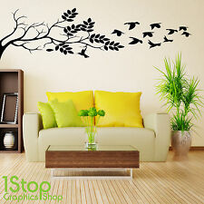 TREE BRANCH WALL STICKER QUOTE - BEDROOM HOME WALL ART DECAL X336