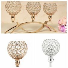 Crystal Candle Holders Tealight Centerpieces Candelabra Home Decor Wedding Party