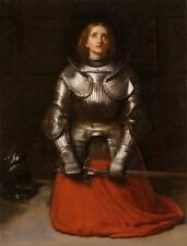 French art heroine print:  Joan of Arc by Millais