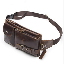 Genuine Leather Waist Bag Fanny Pack Belt Bag Phone Pouch Bags Travel Waist Pack