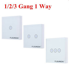Smart RF Wireless Remote Control Touch Panel Wall Light Switch 1/2/3 Gang 1 way