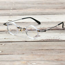 Vintage Round Clear Transparent Reading Glasses +100 +125 +150 +175 +200 +225