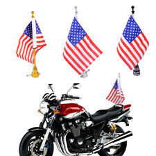 Motorcycle Rack Flagpole Mount and American USA Flag Luggage Mount For Harley