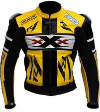 XxX Mens Motorbike Leather Jacket Motorcycle Sports Rider Leather Jacket