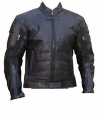 Batman Mens Motorbike Leather Jacket Motorcycle Sports Rider Leather Jacket