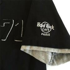 HARD ROCK CAFE PARIS Women's Black Polo Shirt Size Small