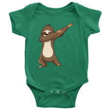Cute Funny Dancing Sloth Romper for Baby Boys and Baby Girls
