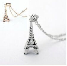 Eiffel Tower Pendant + Necklace Lucky Charm Gift Love France Eiffel Tower