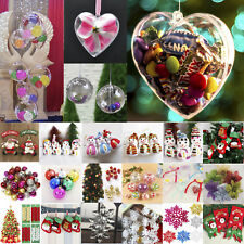 Christmas Xmas Tree Hanging Ornaments Snowflake Balls Festival Bauble Decoration