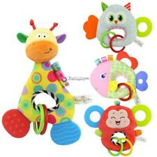 Baby Doll Toy With Teether Animal Stuffed Plush Rattle Ring Doll ES9P 01
