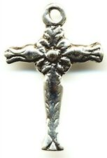 Colonial Spanish 18th C. Antique Replica Catholic Cross Sterling or Bronze  #631