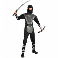 Teenager Boys Howling Wolf Ninja Costume Fancy Dress Party Age 4-16 Years Karate
