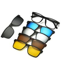 Sunglasses UV400 Polarized Magnetic Clip  (1 Optical Frame + 5 Lenses)