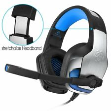Hunterspider Gaming Headset Stereo Headphone 3.5mm Wired W/Mic For PS4 Xbox PC E