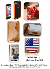 Iphone 6 Case Bundle 2 cases, screen protector, cable, stand, and wall charger