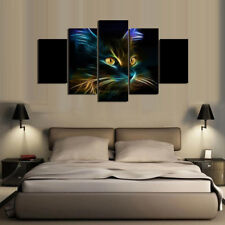 Animal Cats Paintings Poster Modern Abstract Picture Canvas Wall Art Home Decor