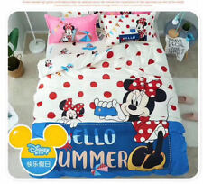 *** Minnie Mouse Hello Summer Queen Quilt Cover Set - Flat or Fitted Sheet ***