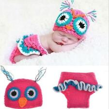 Cute Newborn Babies Crochet Knit Costume Photo Photography Outfits Owl Figure