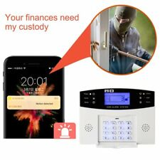 WIFI Smart Home Burglar Security APP Control Voice Prompt LCD Alarm Kit EW