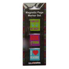 Fun Magnetic Metal Page Bookmarks - Packs of 3 or 2 - 14 Designs - by Wildside