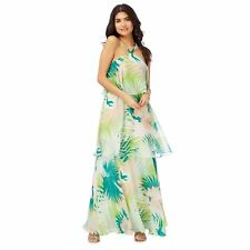Butterfly By Matthew Williamson Womens Multi-Coloured Palm Leaf Print Maxi Dress