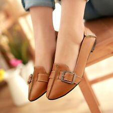 Womens Leather Flat Heels Pointed Toe Shoes Ballerinas Ballet Flats Nice!!