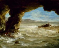 Shipwreck on the Coast by Eugene Delacroix - Classic French Romantic Art Print