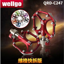 Wellgo Quick Release Aluminium Alloy Bike Pedals Ultralight Smooth Bicycle Pedal