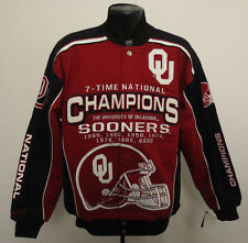 OKLAHOMA SOONERS JACKET COMMEMORATIVE COLLEGE COTTON TWILL NCAA STITCH MENS NEW