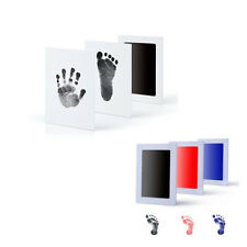 Inkless Baby NewBorn Keepsake Touch Footprint Handprint Ink Pad Frame Non-Toxic