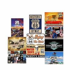Route 66 Map Chicago Los Angeles Vintage Tin Signs Metal Art Wall Poster Decor