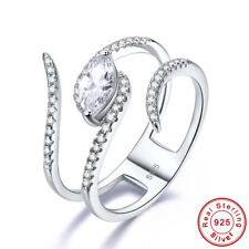 Wedding Women's Marquise Cut White Topaz 925 Sterling Silver Ring Size 6 7 8 9