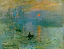 French Impressionist Art Print: Sunrise by Claude Monet, 1872