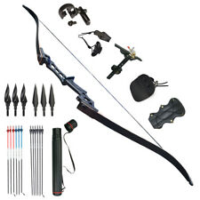 Archery Recurve Bows 30-60 lbs Takedown Bow Carbon Arrows 57'' Right Handed  CA