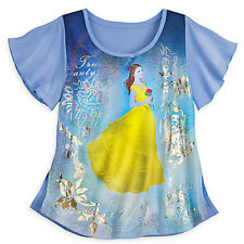 NWT Disney store Women Belle Fashion Top Shirt Beauty and The Beast many sizes
