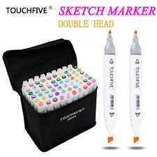 Touchfive 30/40/60/80/168 Colors Pen Markers Set Dual Head Sketch Copic Markers